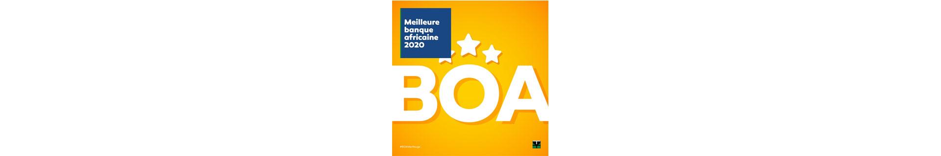 BANK OF AFRICA désignée «meilleure banque africaine 2020»